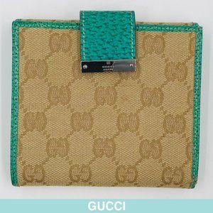 Gucci GG canvas beige wallet